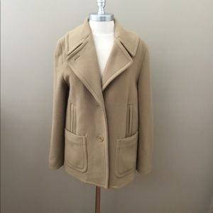 Talbots Camel Color Wool Coat